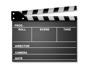 "image of the device used for ""takes"" in the film industry"